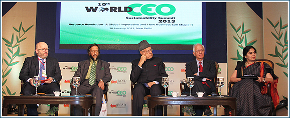 Dignitaries at the Inaugural Session of World CEO Sustainability Summit 2013